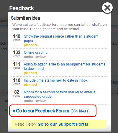 Feedback Forum link