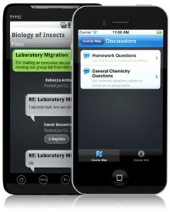 Discussions using iOS and Android in Mobile Learn
