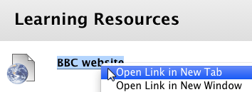 Example of opening a link in a new tab/window