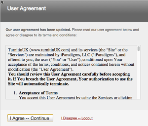 Turnitin User Agreement